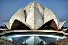 The expressionistic Lotus temple Stock Photos