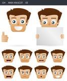 Expressions 02 de visage Image stock