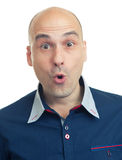 Expressions of bald man - surprice Stock Images