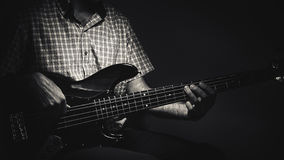 Expressions of a Bass Player Stock Images