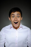 Expressions  business man surprised and happy Royalty Free Stock Images