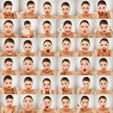 Expressions Collage Stock Photography
