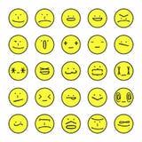 Expressions d'émoticônes de vecteur illustration de vecteur