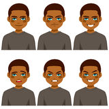 Expressions d'avatar d'homme Photographie stock