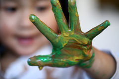 Expressions d'enfants Image stock