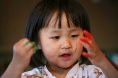 Expressions d'enfants de joie photo stock