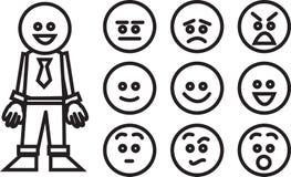 Expressions d'ouvrier d'affaires Images libres de droits