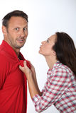 Expressions de couples Images stock