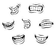 Expressions de dessin animé illustration de vecteur