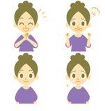 Expressions 02 de femme illustration stock