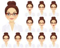 Expressions de femme d'affaires réglées Photos libres de droits