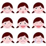 Expressions de fille Photographie stock libre de droits