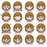 Expressions 01 de fille Image stock