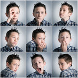 Expressions de garçon Photo libre de droits