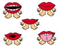 Expressions de languette illustration stock
