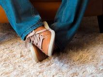Expressions de pied Photos libres de droits
