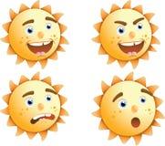 Expressions de Sun Illustration Stock