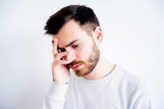 Expressions de visage d'homme Image stock
