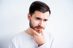 Expressions de visage d'homme Images stock