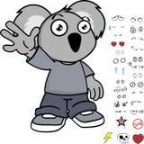 Expressions douces de koala de petit enfant réglées Photo stock