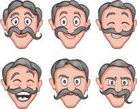 Expressions du visage 2 illustration libre de droits