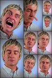 Expressions du visage idiotes Images stock