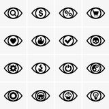 Expressions in the eyes Stock Photo
