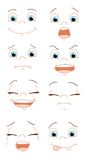 Expressions of the face Royalty Free Stock Images