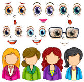 Expressions and faces Royalty Free Stock Image