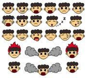 Expressions faciales Photo libre de droits