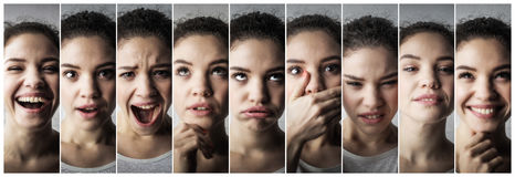 Expressions of a girl Stock Photography