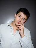 Expressions. Handsome man feeling sad depressed Stock Photos