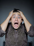 Expressions. Man Is Terrified And Feeling Fear Stock Photography