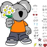 Expressions mignonnes de koala de petit enfant réglées Photographie stock