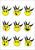 Cartoon Expressions  Royalty Free Stock Image