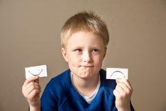 Expressions positives et négatives Photo stock