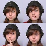Expressions sur le visage Photo libre de droits
