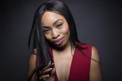 Expressions timides femelles noires Images libres de droits