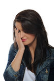 Expressions.upset And Crying Pretty Woman Stock Photography
