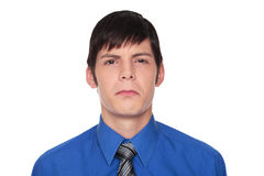 Expressions - upset Caucasian businessman Royalty Free Stock Photos