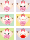 Expressions of a young baby Royalty Free Stock Photography