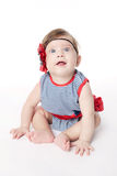 Expressive adorable happy baby Royalty Free Stock Photography