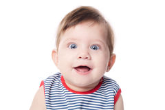 Expressive adorable happy baby Stock Photography