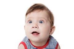 Expressive adorable happy baby Stock Photos