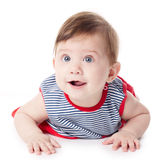 Expressive adorable happy baby Royalty Free Stock Photo