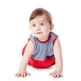 Expressive adorable happy baby Royalty Free Stock Photos