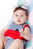 Expressive adorable happy baby Royalty Free Stock Images