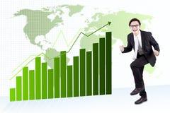 Expressive Asian Businessman royalty free stock photo