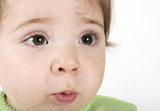 Expressive baby face Stock Photography