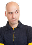 Expressive bald man Royalty Free Stock Photography